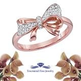 1/10CTW-DIAMOND FASHION BOW RING