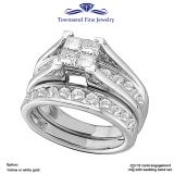 1/2ct-Diamond Invisible Bridal Set