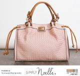 Simply Noelle Vacay Day Vegan Faux Leather Large Basketweave Handbag