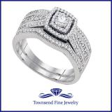 0.36CT DIAMOND 0.15CT CENTER ROUND BRIDAL SET