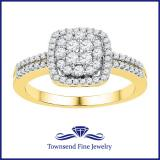 0.50CTW DIAMOND FASHION RING