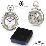 Charles Hubert Polished Finish Off-white Dial Open Face Pocket Watch