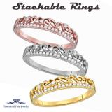 14K Stackable Gold & Diamond Rings