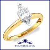 MARQUISE CUT SOLITAIRE ENAGEMENT RING